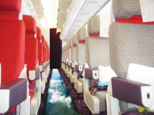 April Fools' pranks - glass bottomed airplane