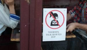 April Fools' pranks - loud tourists